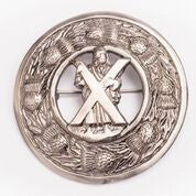Large Saint Andrew Antique Nickel Brooch