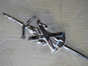 Saint Andrew Kilt Pin (Chrome Finish)