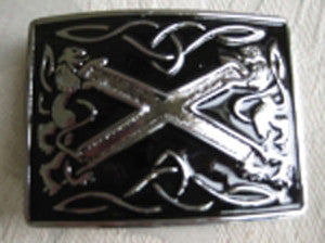 Saltire Buckle (Black Enamled Finish)
