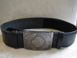 Smooth Belt & Antique Nickel Celtic Square