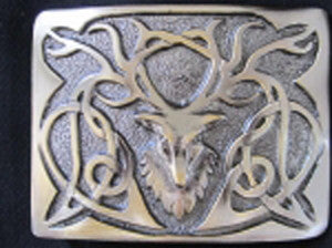 Stag Head Buckle (Antique Nickel Finish)