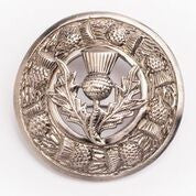 Thistle Flower Antique Nickel Brooch