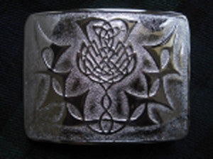 Thistle Flower Buckle (Chrome Finish)