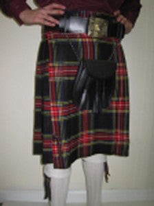 Black Stewart Tartan Affordable Kilt