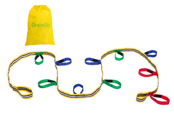 Walkodile® Grab & Go, Childrens Walking Rope / Fire Drill Resource (10 child). With Free Learning Games for Walks Guide!
