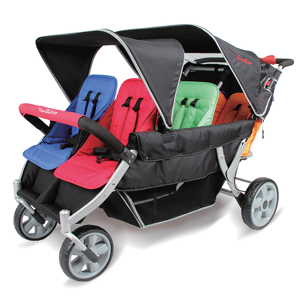 Familidoo Heavy Duty 6 Seater Stroller with FREE Rain Cover