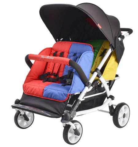 Multi Seat Buggies 6 Child Strollers Quad Pushchairs 4 Child