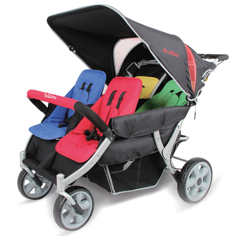 Familidoo Heavy Duty 4 Seater Stroller with FREE Rain Cover
