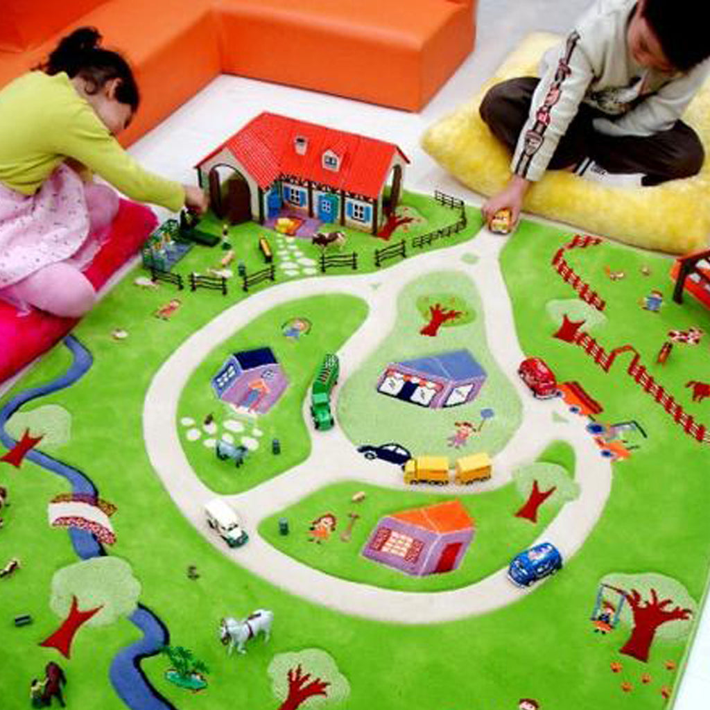 3d Activity Play Rug - Farm