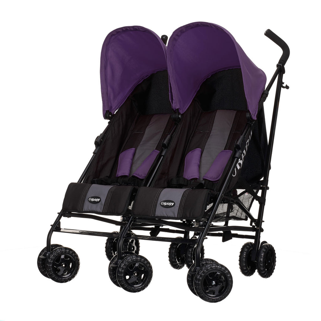 Obaby Apollo Double Buggy - Black/Purple