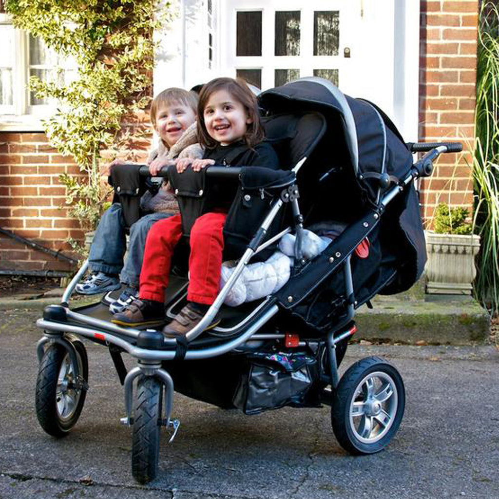 T4 Jogger Quad Stroller, 4 Child Pram, Four Seat Buggy