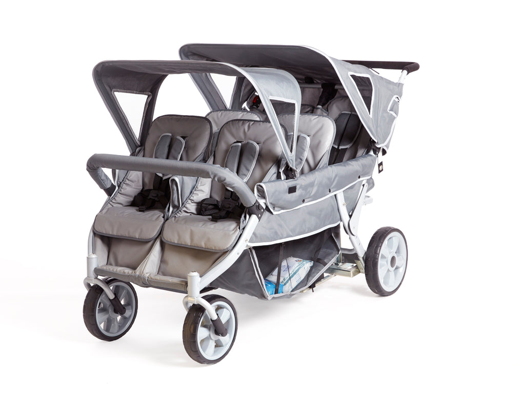 Cabrio Stroller - 6 Seat Childrens Buggy (incl. FREE Raincover)
