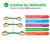 Walkodile® Safety Web (6 child), Children's Walking Rope, Kids Safety Walking Harness. With Free Learning Games for Walks Guide!