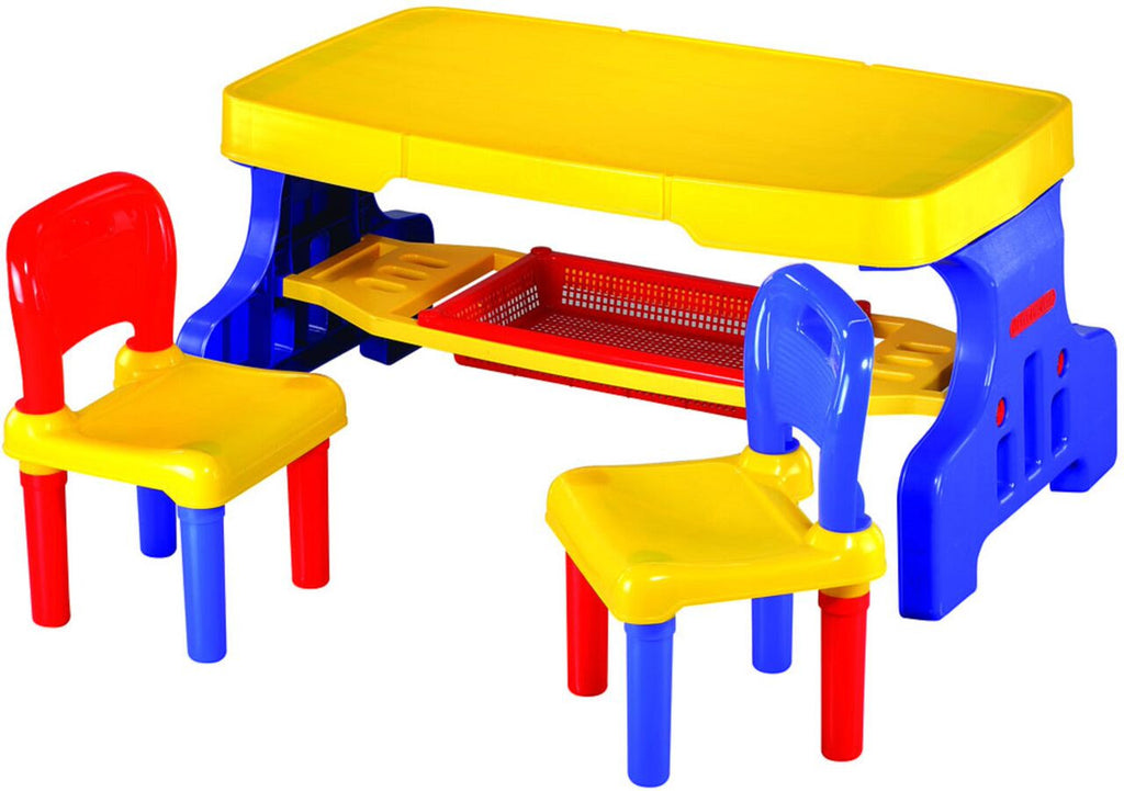 Large Picnic Table with Lego Top and 2 Chairs