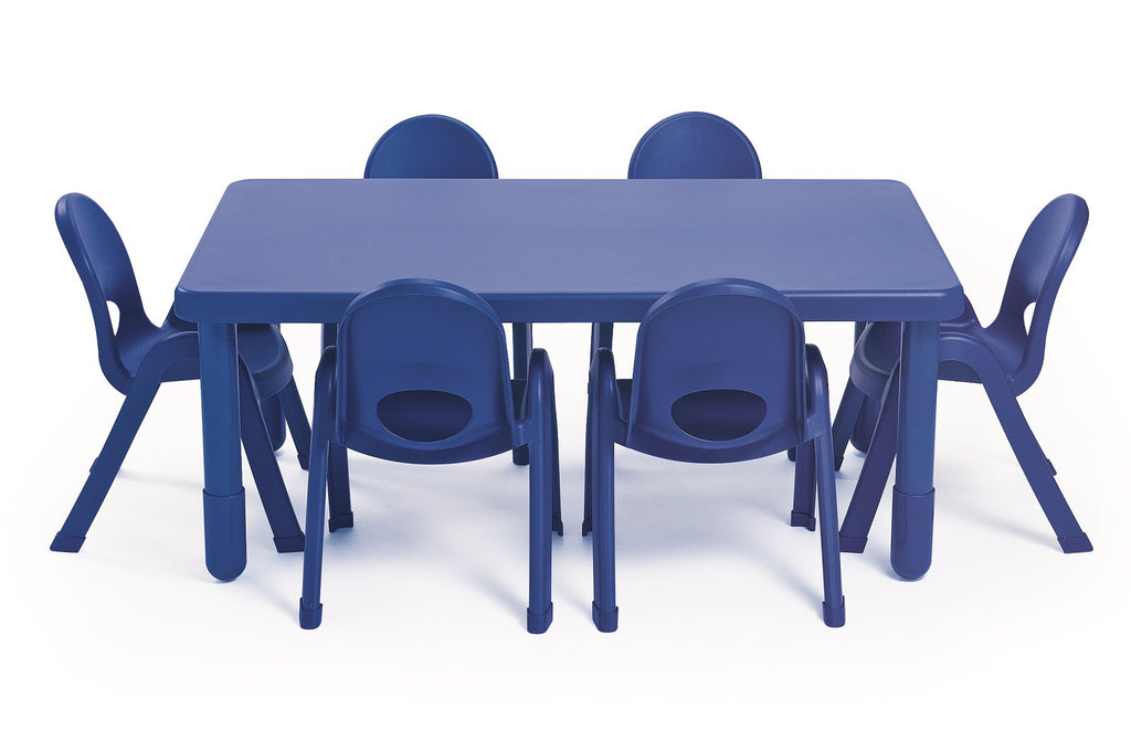 Value Table Blue (Rectangle) - 35.5cm