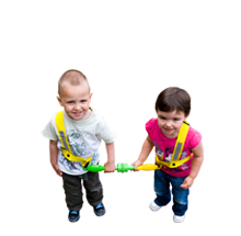 Walkodile® Duo (2 child) - with Free Learning Games for Walks Guide!