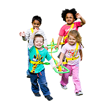 Walkodile® Quattro (4 child) - with Free Learning Games for Walks Guide!