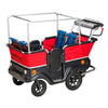 Winther E-Turtle Kiddy Bus - Electric 4 Seat, Four Passenger Pram, 4 Child Buggy