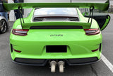 Soul Performance Porsche 991 GT3 / GT3 RS Bolt-On Resonated Turn Down Exhaust Tips