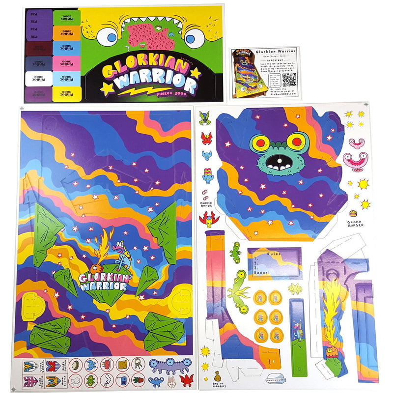 Glorkian Warrior PinBox 3000 playboard
