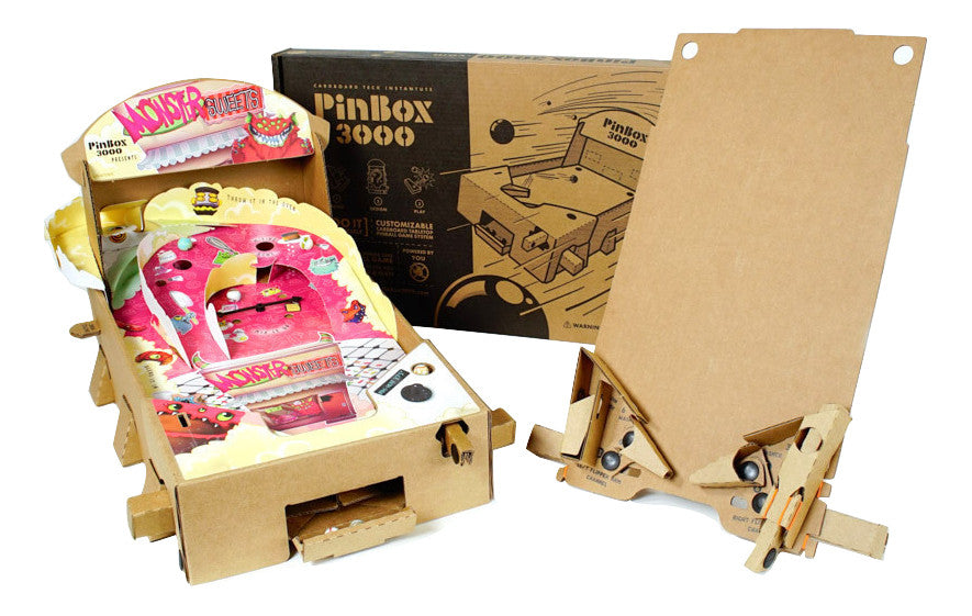 Pinbox 3000 Diy Cardboard Pinball Kit And Monster Sweets Expansion