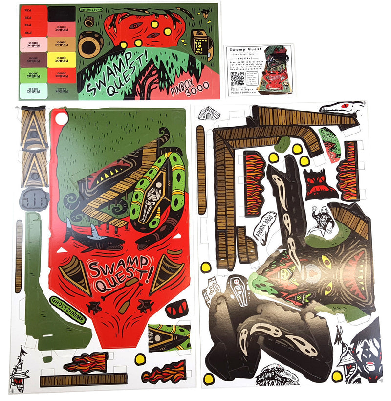Swamp Quest card stock and stickers
