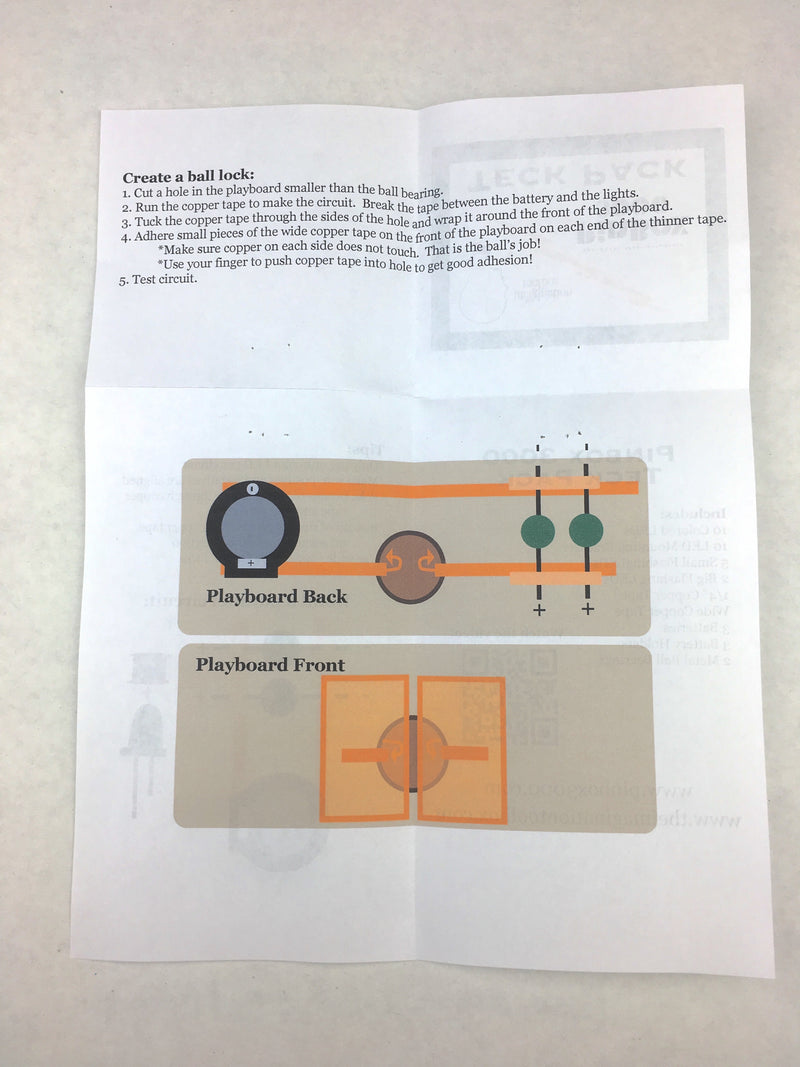 LED Teck Pack building a ball lock instruction sheet