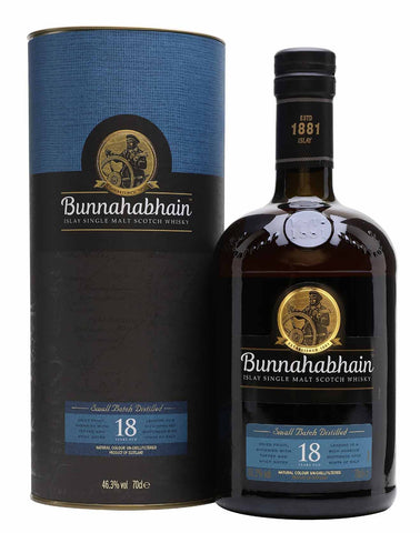 Bunnahabhain 18 year old, Single Malt Whisky, 70cl