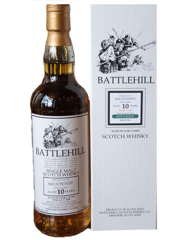 Battlehill Miltonduff 10, Single Malt Whisky, 70cl.