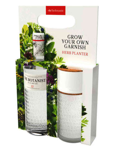 "Botanist Gin, 70cl. ""Grow your own garnish"" Gift Set"
