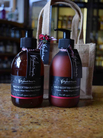 Wild Scottish Raspberry Lotion and Handwash