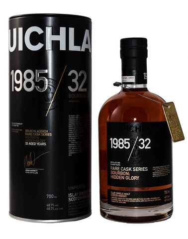 Bruichladdich 1985 / 32 Rare Cask Series Bourbon: HIDDEN GLORY 70cl