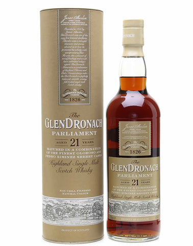 GlenDronach 21 year old, Single Malt Whisky, 70cl.