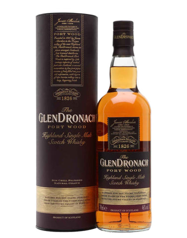 GlenDronach PortWood, Single Malt Whisky, 70cl.