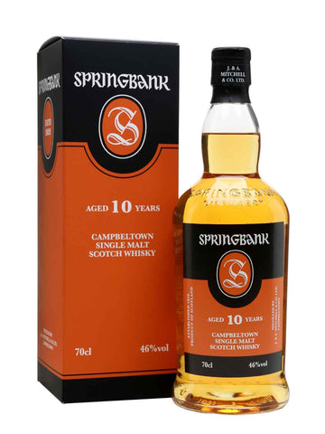 Springbank 10 year old, Single Malt Whisky, 70cl