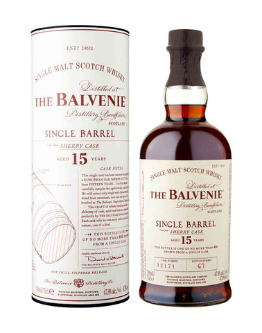 Balvenie 15 Year Old Single Sherry Cask.