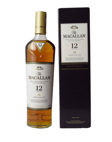 Macallan 12 Year Old Sherry, Single Malt Whisky, 70cl