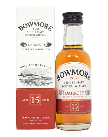 Bowmore 15 year old Darkest 5cl - Whiski Shop