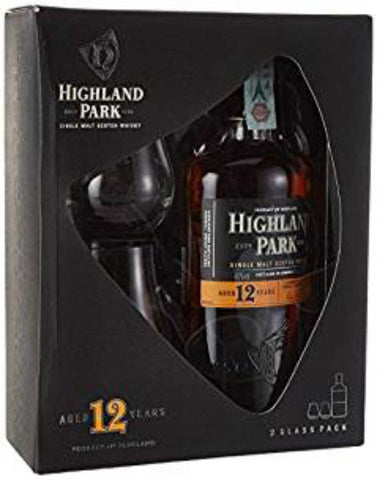 Highland Park 12 year old Gift Pack, Single Malt Whisky, 70cl