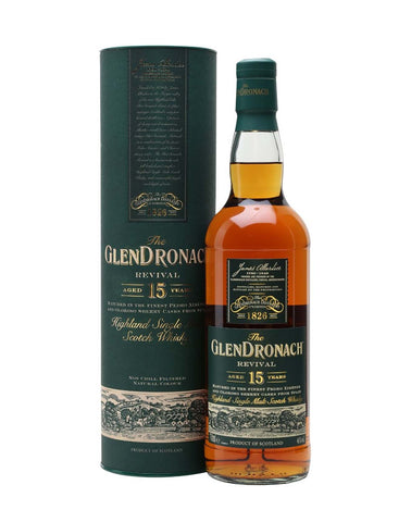 GlenDronach 15 Year Old, Single Malt Whisky, 70cl.