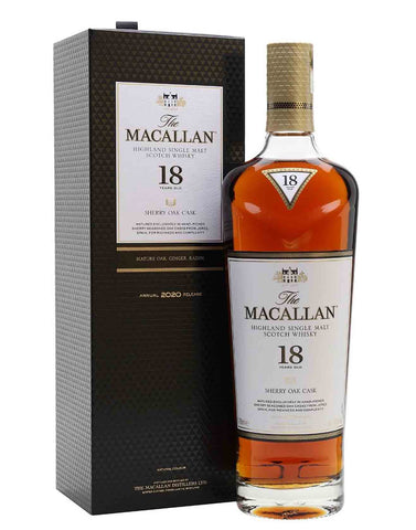 Macallan 18 Sherry Oak (2020) Single Malt Whisky, 70cl