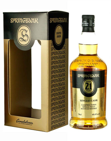 Springbank 21 year old, Single Malt Whisky, 70cl