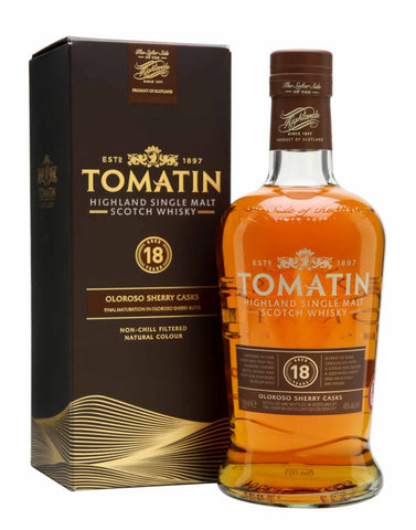 Tomatin 18 Year Old, Single Malt Whisky, 70cl