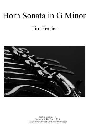 Horn Sonata by Australian composer Tim Ferrier. Solo French horn and piano.