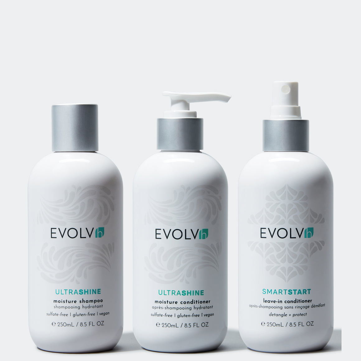 The hair of your dreams is as easy as 1 2 3.  EVOLVh's Healthy clean haircare trio, award winning products & results