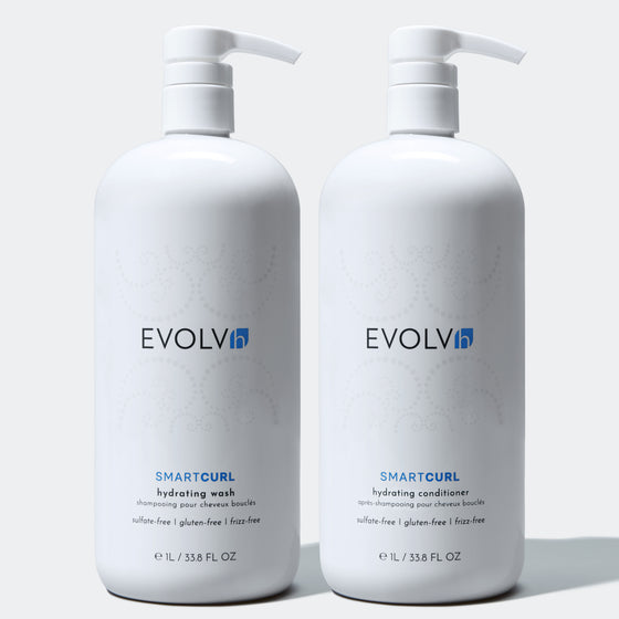 SmartCurl Hydrating Wash & Conditioner Liter Duo