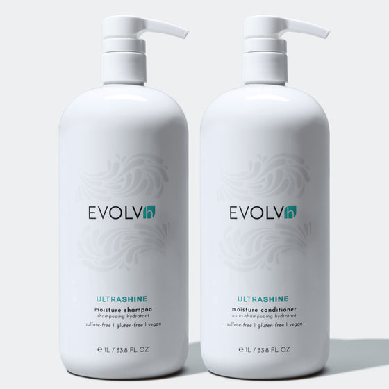 UltraShine Moisture Shampoo & Conditioner Liter Duo