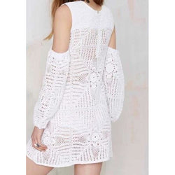 ee413697313f White crochet dress with long sleeves, beach cover up, beach dress, party  dress