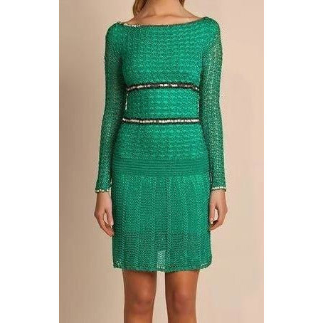 Green crochet summer dress - AsDidy fashion