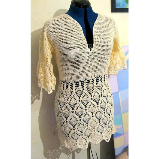 Crochet summer tunic, top - PDF Pattern only - AsDidy fashion